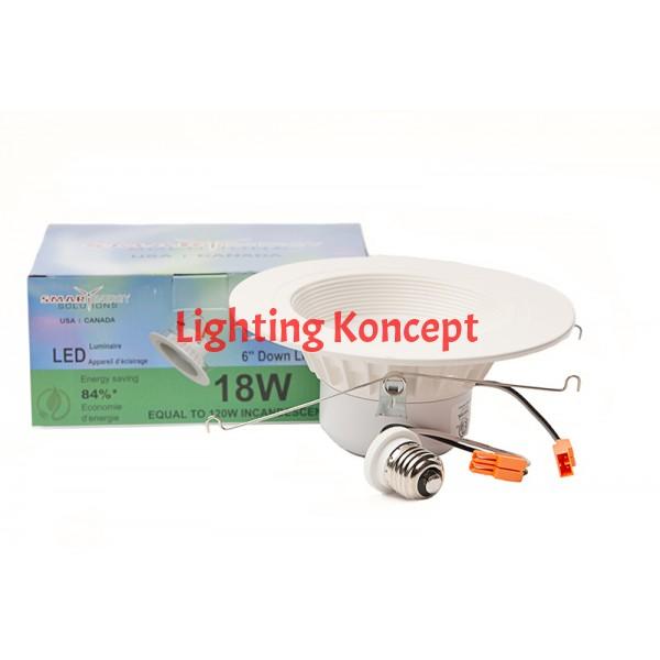 Pot Light Retrofit 18 Watt 6 Inch 5000K